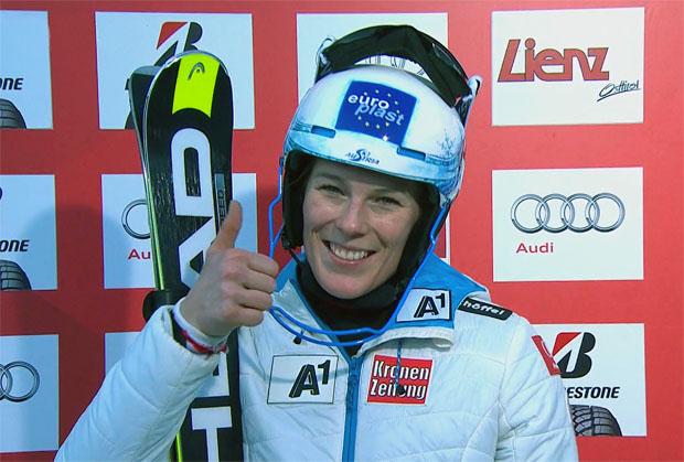 Carmen Thalmann Vierte im Slalom von Lienz