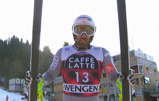 Adrien Théaux entscheidet 3. Abfahrtstraining in Wengen für sich