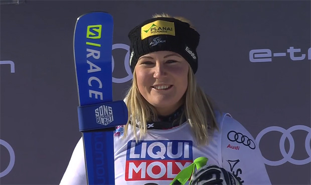 Tamara Tippler wird Dritte beim Super-G in Cortina d'Ampezzo