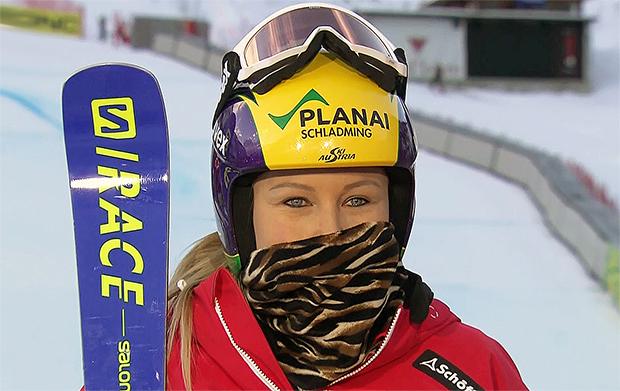 Tamara Tippler teilte sich die Tagesbestzeit beim 1. Abfahrtstraining in St. Anton am Arlberg ........
