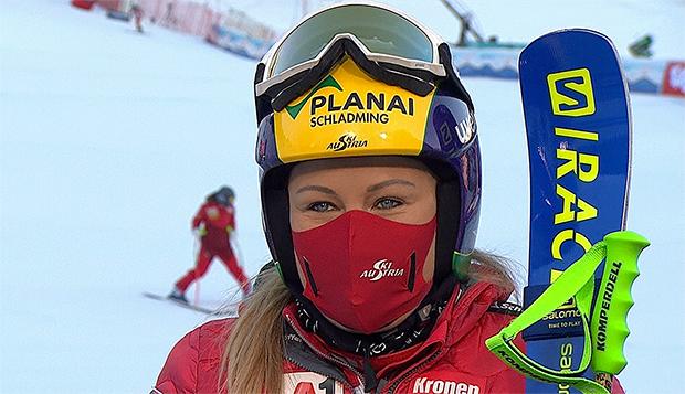 Tamara Tippler verpasst als Vierte knapp das Super-G Podest in St. Anton