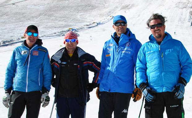 Andreas Puelacher und Max Rinaldi am Schnalstaler Gletscher gesichtet (Foto: FISI.org)