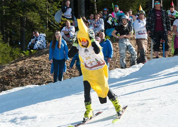 Kathi Truppe, unterwegs als Banane