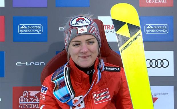 Katharina Truppe sicherte sich Platz vier beim Slalom in Spindlermühle.