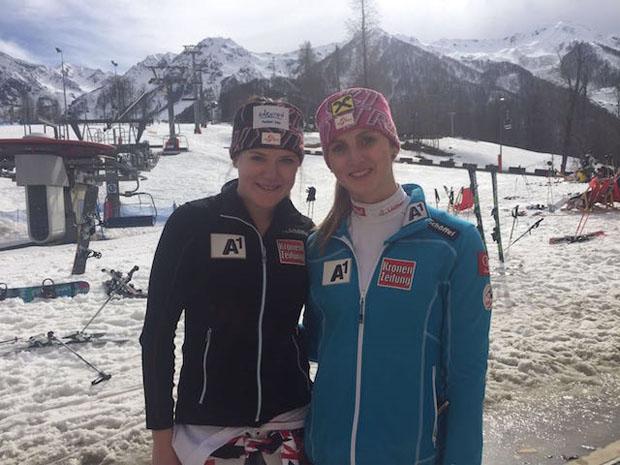 Katharina Truppe und Nina Ortlieb: die besten Österreicherinnen beim RTL von Sotschi. (Foto: ÖSV)