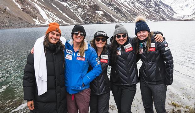 Die US-Speeddamen waren mit ihrer Vorbereitung in Portillo mehr als zufrieden. (Foto: © U.S. Ski & Snowboard Team / Facebook)