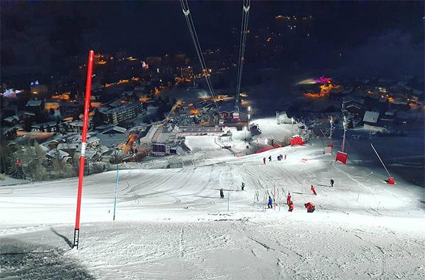 """Die Piste ist """"rennfertig"""" und das OK, sowie die FIS haben grünes Licht für den Slalom der Herren gegeben. (Foto: © FIS-Ski.com)"""