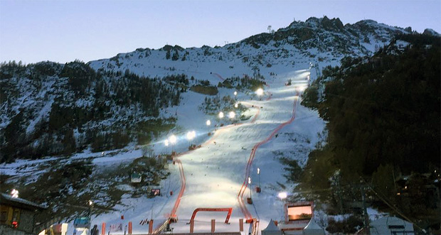 Heftige Schneefälle in Val d' Isère erwartet