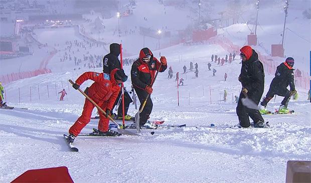 Schlecht Wetterfront sorgt für Rennprogrammänderung in Val d'Isère