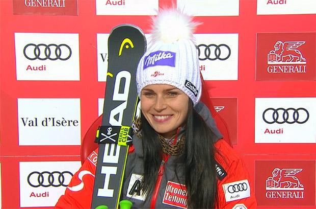 Triumph für Anna Veith beim 2. Super-G von Val d'Isère 2017