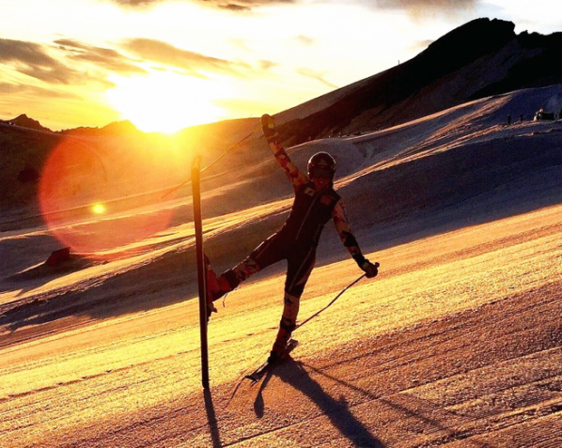 Bianca Venier: Ein 'Ski-Traumtag' in Saas Fee (Foto: Bianca Venier / privat)
