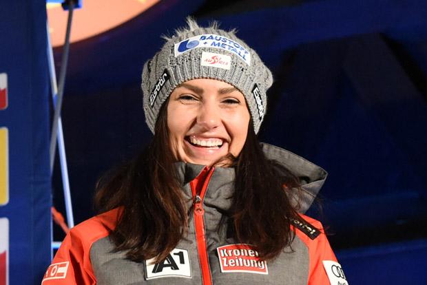 """© Ch. Einecke (CEPIX) / Stephanie Venier im FIS-Ski.com Interview: """"Ich möchte bei der WM in Are eine Medaille gewinnen."""""""