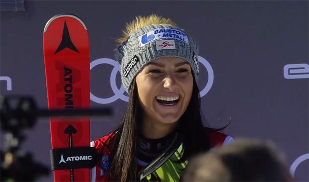 """Stephanie Venier im Skiweltcup.TV-Interview: """"Was Mikaela Shiffrin erreicht hat, ist ein Wahnsinn!"""""""