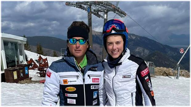 Petra Vlhová und Mauro Pini könnten auf dem Stilfser Joch auf Meta Hrovat und Livio Magoni treffen (Foto: © Petra Vlhova / Facebook)