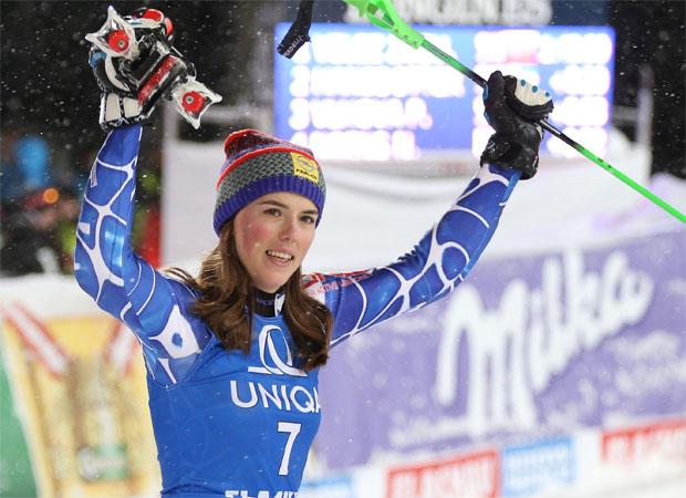 Die Slowakin Petra Vlhová freut sich auf ihr Heimrennen.