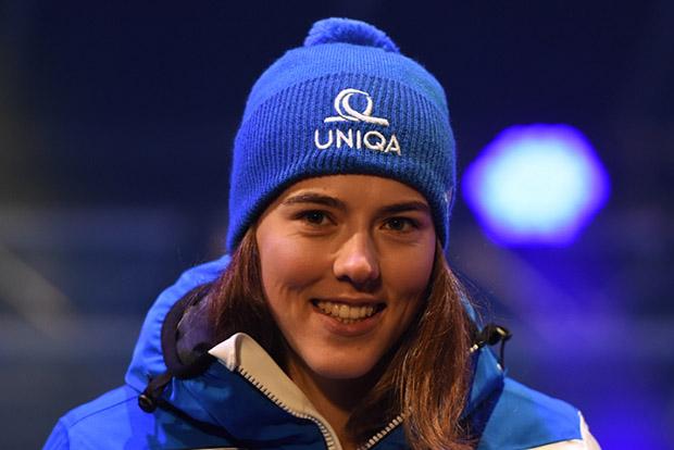 """Petra Vlhová mit schnellster Zeit beim """"Qualifying"""" in St. Moritz. (Foto: © Ch. Einecke (CEPIX))"""