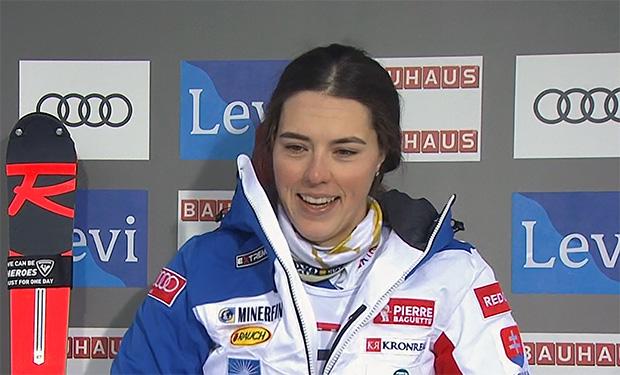 Petra Vlhova liegt nach dem 1. Durchgang beim Slalom in Levi in Führung