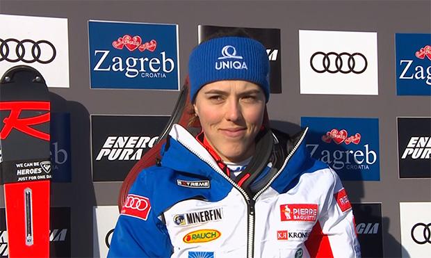 Petra Vlhova führt mit klarer Bestzeit nach dem 1. Slalom-Durchgang in Zagreb