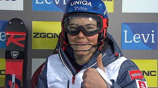 Petra Vlhová übernimmt Zwischenführung beim ersten Ski Weltcup Slalom in Levi