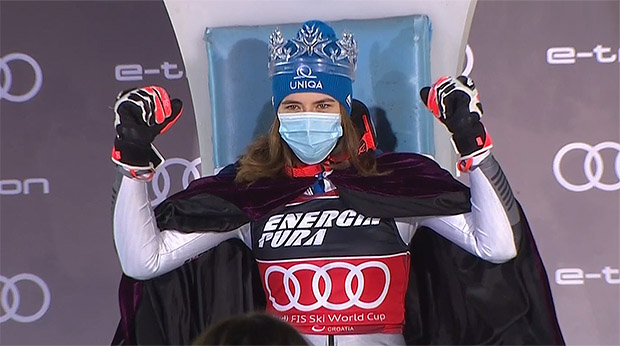 Petra Vlhova krönt sich in Zagreb zur Slalom Snow Queen