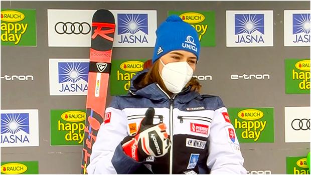 Petra Vlhová übernimmt Führung beim Slalom von Jasná