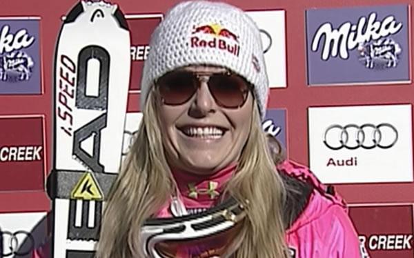 6 Starts, 5 Weltcupsiege, Seriensiegerin Lindsey Vonn