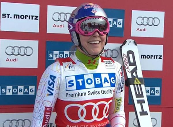 Lindsey Vonn gewinnt Abfahrt in St. Moritz
