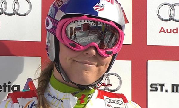 Lindsey Vonn führt bei der Super Kombination der Damen in St. Moritz