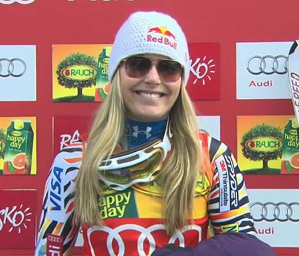 Lindsey Vonn gewinnt Super G in Bansko