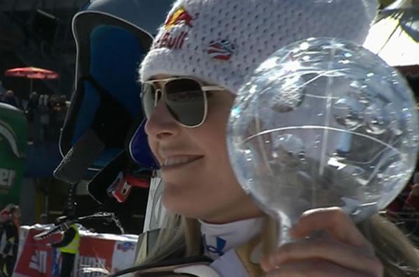 Lindsey Vonn holt sich Super G Weltcupkugel 2011/12