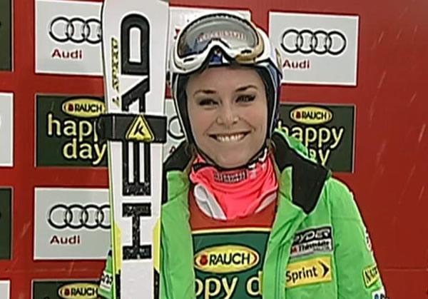 Lindsey Vonn feiert 100. Weltcup-Podium