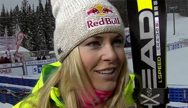 Lindsey Vonn kann sich auch über einen achten Platz freuen.