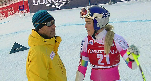 Atle Skaardal und Lindsey Vonn im Gespräch