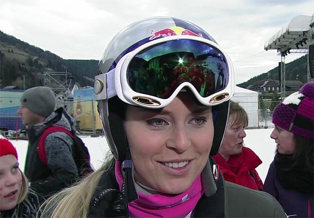 Lindsey Vonn beim Training in St. Moritz voran