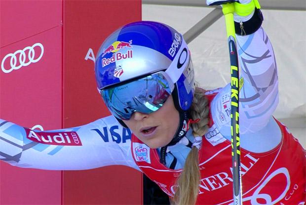 Lindsey Vonn entscheidet, nach ihrem Ausscheiden in Val d'Isére, kurzfrist über einen Start beim Riesenslalom in Courchevel