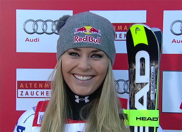 Lindsey Vonn gewinnt auch den Super-G in Zauchensee