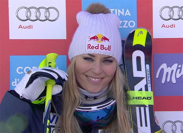 Lindsey Vonn zieht mit Abfahrtssieg in Cortina mit Renate Götschl gleich
