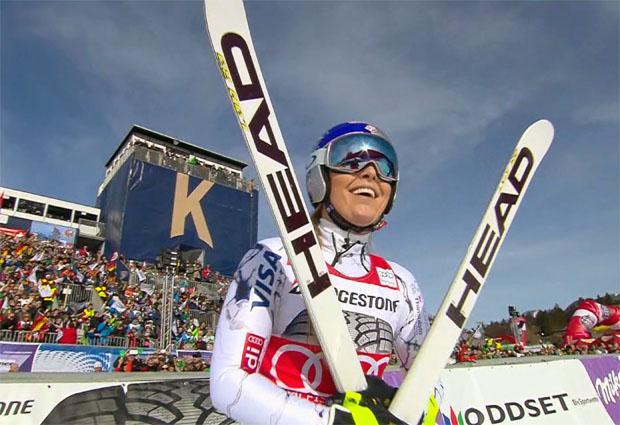 Lindsey Vonn entscheidet Abfahrt in Garmisch mit großem Vorsprung für sich