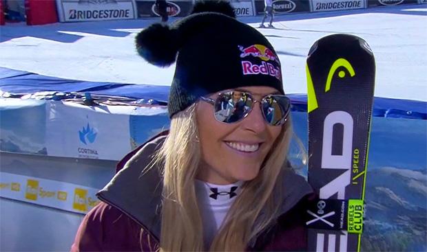 Lindsey Vonns Bilanz in Cortina eher durchwachsen
