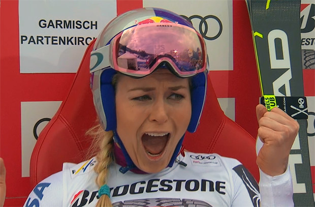 Lindsey Vonn gewinnt auch traditionelle Abfahrt auf der Kandahar in Garmisch-Partenkirchen