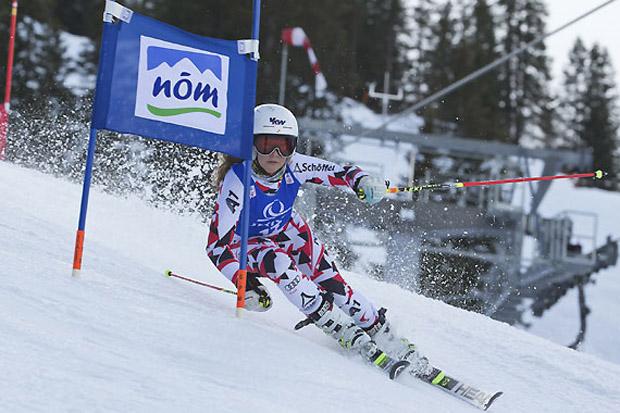Auch Amanda Wachter, Tochter der ehemaligen Weltklasseläuferin Anita Wachter, war bei den Schülertestrennen in Mellau (Klass U14) am Start und gewann unter aderem den Parallelbewerb. (Foto: ÖSV / Peter Lintner)