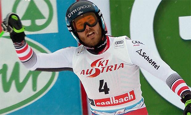 Christian Walder beim Super-G in Sallbach knapp am Podest vorbei