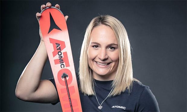 """Marina Wallner im Skiweltcup.TV-Interview: """"Das DSV-Slalomteam der Damen ist klein, aber fein!"""" (Foto: © Atomic/Mirja Geh)"""