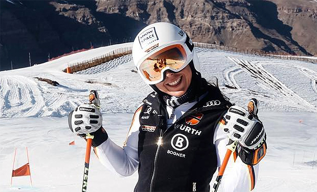 Kira Weidle Schnellste beim 2. Abfahrtstraining in Lake Louise (Foto: Kira Weidle / privat)