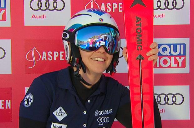 Tina Weirather gewinnt Super-G in Aspen und sichert sich Super-G Kristallkugel