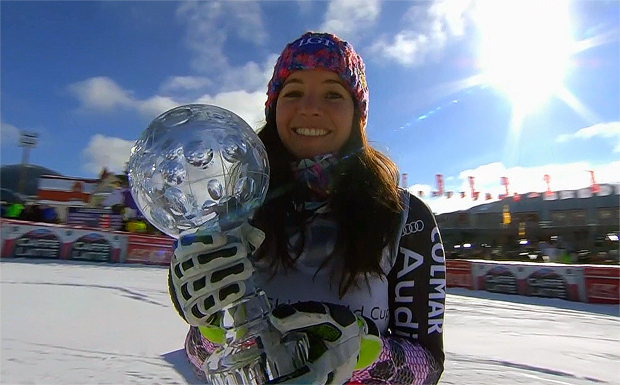 .... Tina Weirather holt Super-G-Kristall