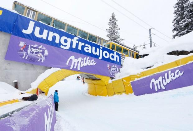 © Kraft Foods / 85. Internationalen Lauberhornrennen: Lauberhorn Abfahrt eingeschneit!