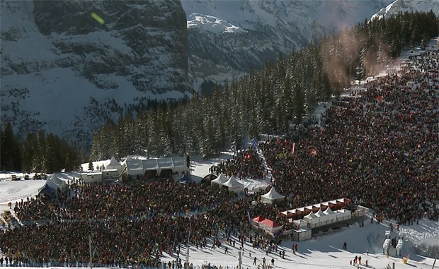 Rekordkulisse bei den Lauberhornrennen
