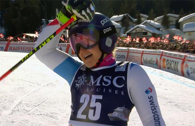 Neo-Olympionikin Simone Wild kann ihr Glück nicht fassen