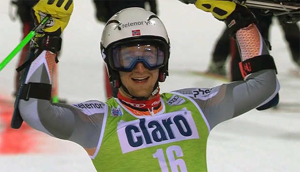 Rasmus Windingstad gewinnt Parallel-Riesenslalom in Alta Badia